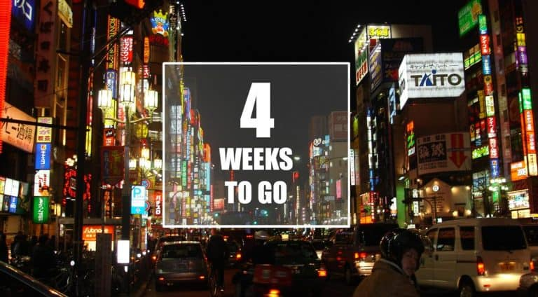 4 weeks to go - the plan