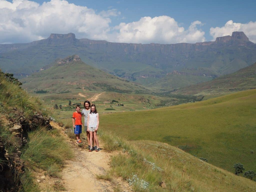 South Africa Drakensberg - View of the Amphitheatre
