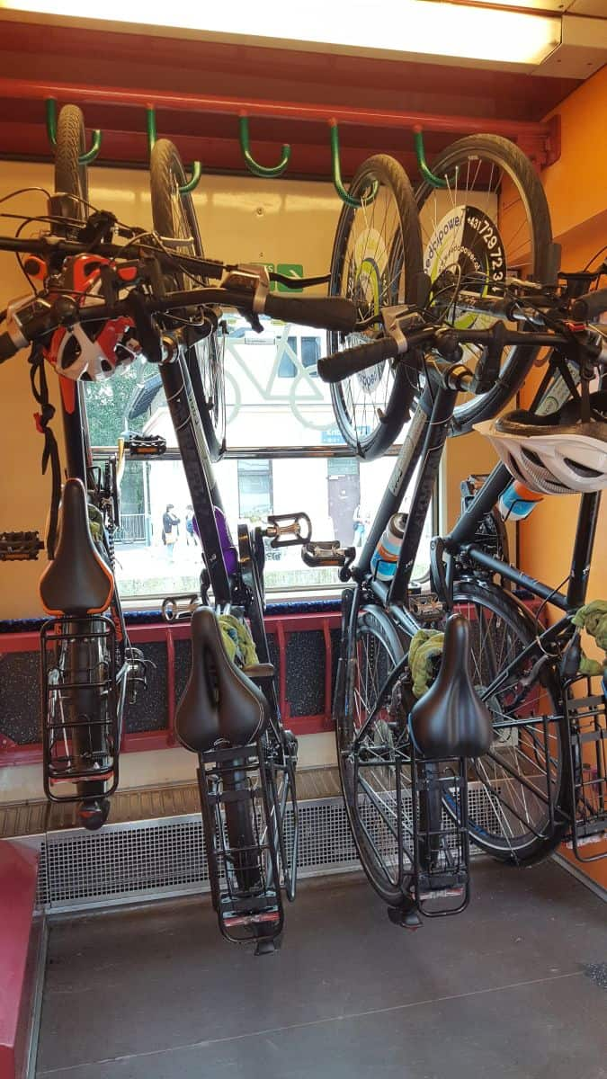 Bike storage on Austrian Trains