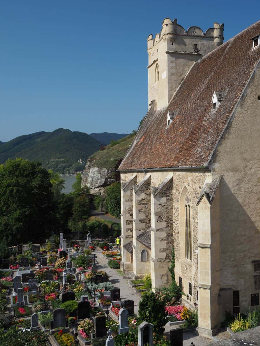 A view back to Spitz from the church of St Michael