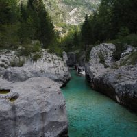 Rivers, lakes and mountains in Slovenia