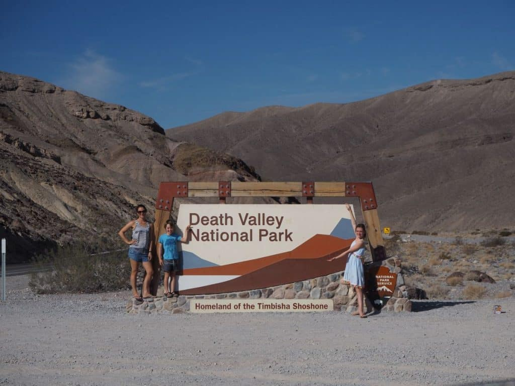 Death Valley National Park entry sign