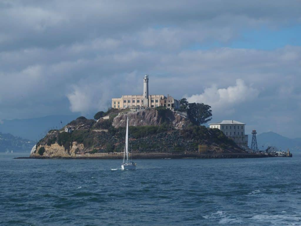 View of Alcatraz Island, San Francisco, USA West Coast