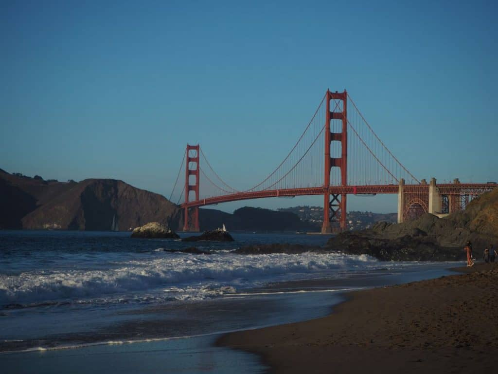 Golden Gate Bridge, view from Bakers Beach, San Francisco