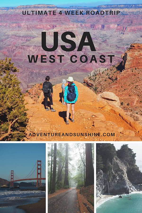 The Ultimate USA West Coast Itinerary. Includes Yosemite, Death Valley, Bryce, Antelope, Grand Canyon, San Francisco, Highway One and Disneyland #usa #roadtrip #westcoast #itinerary
