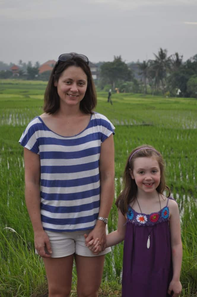 Rachel and Amelie in Ubud, Bali