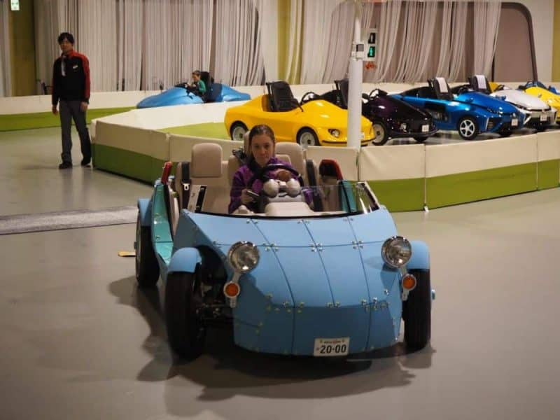 Learning to drive at the MEGAWEB Toyota Showcase, Tokyo