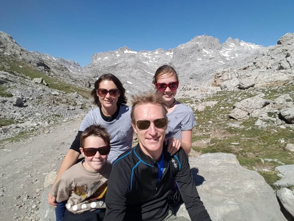 Hiking in Picos de Europa. Peaks and valleys.