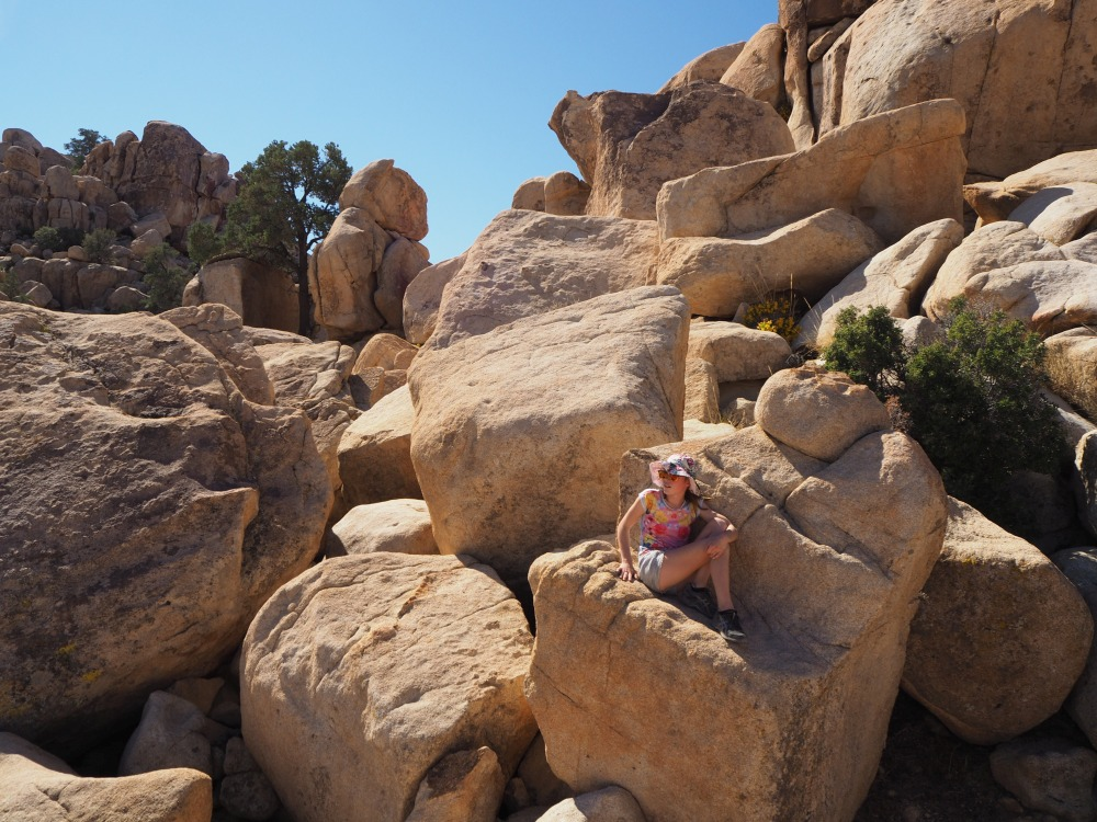 Hiking with children - Joshua Tree National Park, USA