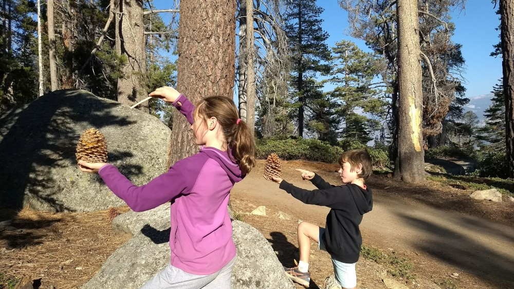 Tips for Hiking with Kids. Yosemite National Park, USA. Play games along the trail.