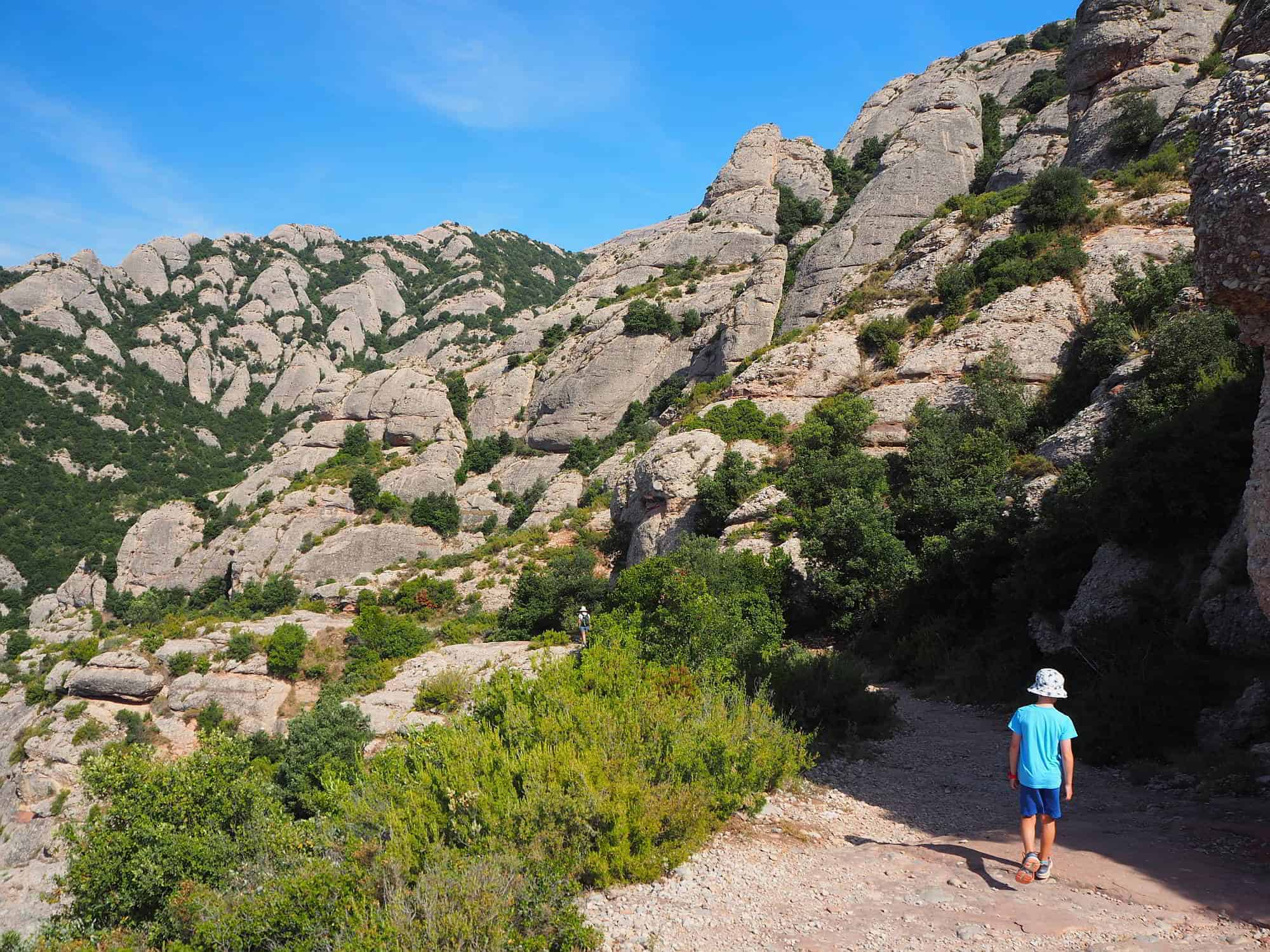 Tips for hiking with kids. Montserrat, Spain
