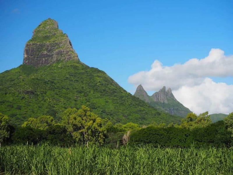 Mauritius mountain range