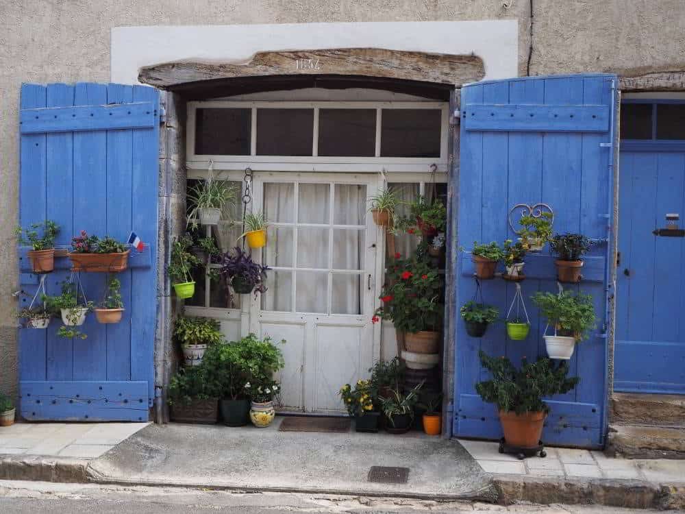 Pretty doorway, Cotignac, France
