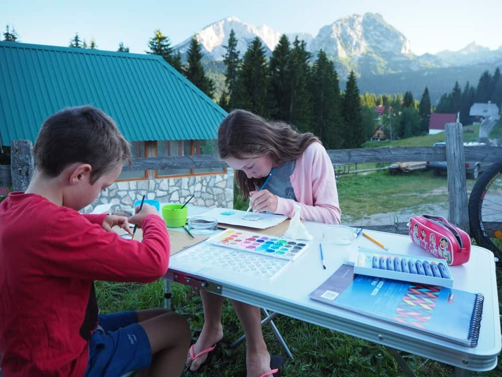 How to travel the world with kids - Montenegro campground