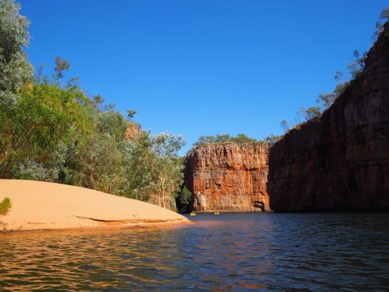 Canoe on Nitmiluk Gorge Northern Territory Road Trip