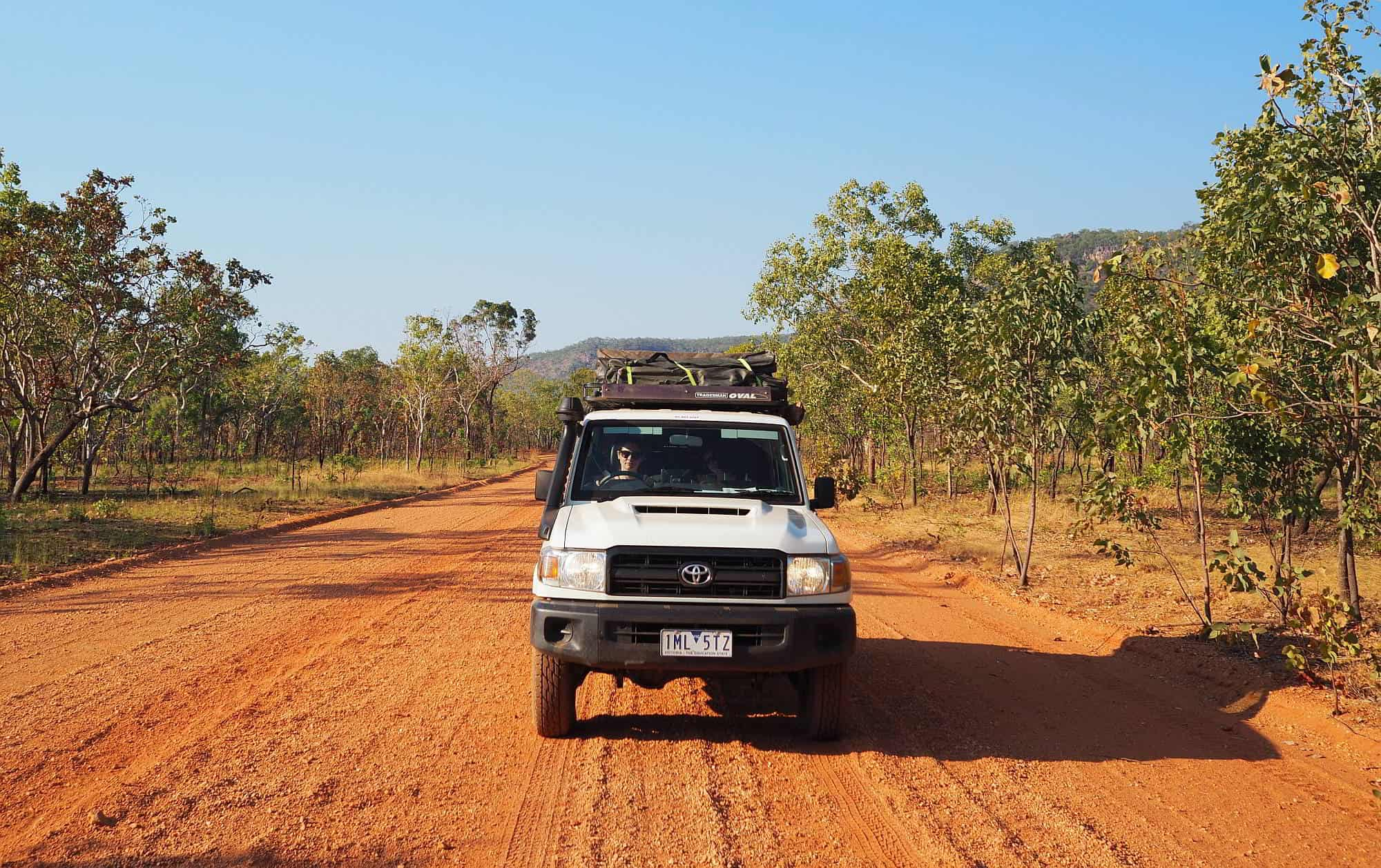 4wd on Dirt Road Northern Territory Road Trip