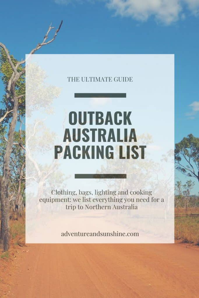 Are you wondering what to pack when traveling to Outback Australia? This complete packing list has all the essential gear you need for a road trip in the Northern Territory including a free downloadable checklist #outback #northernterritory #packinglist #roadtrip