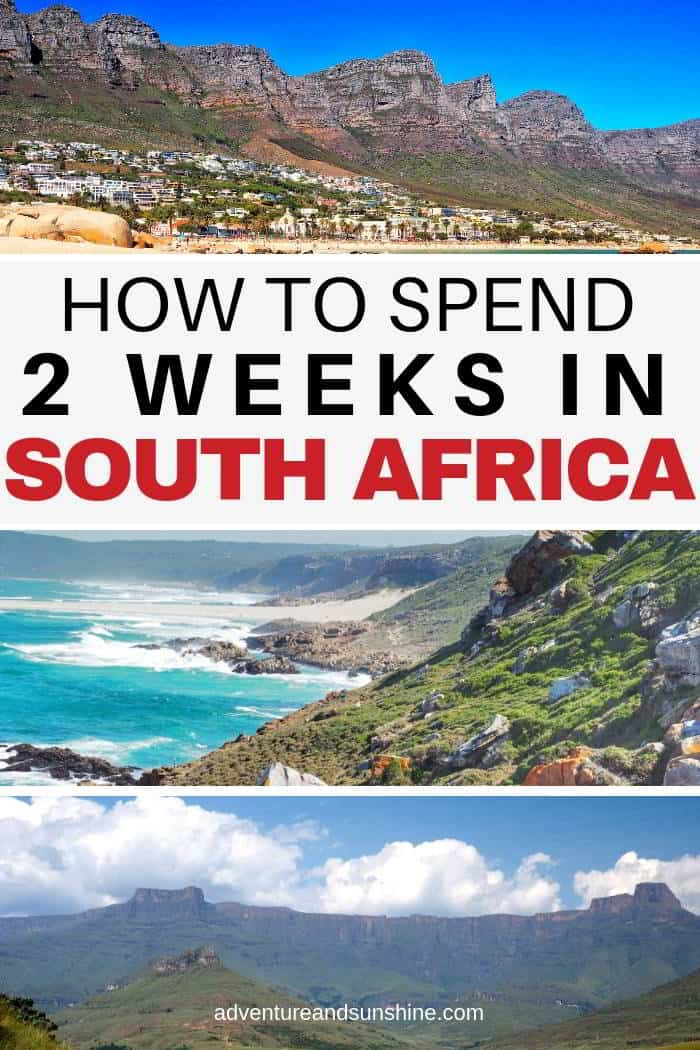 South Africa in 2 weeks