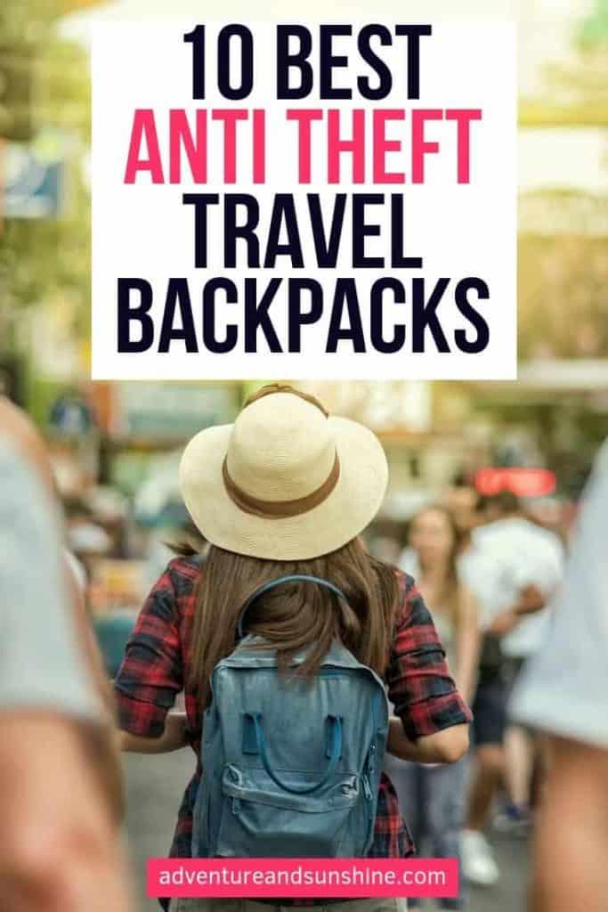 best anti theft travel backpacks