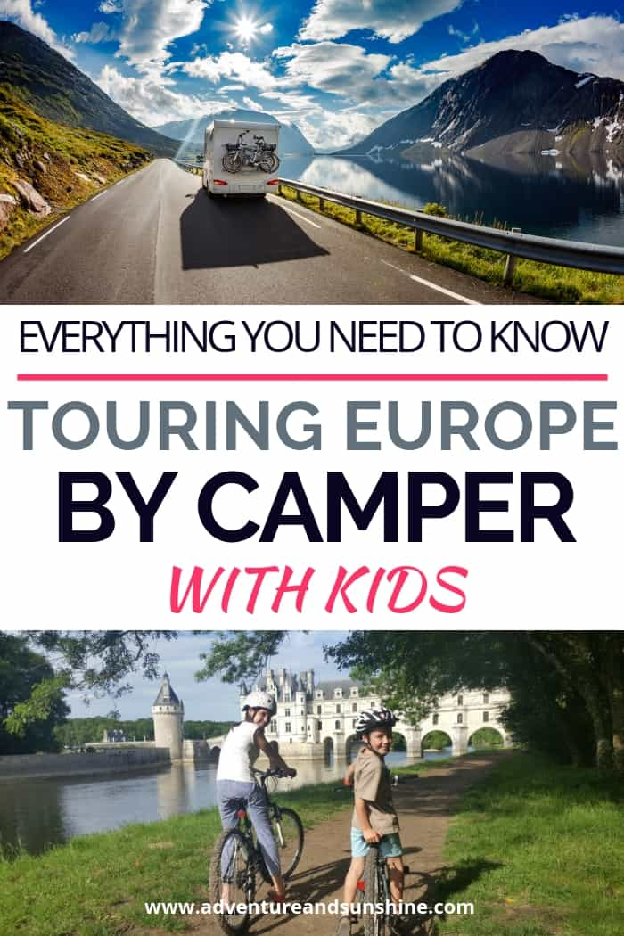 Europe road trip in a motorhome with kids