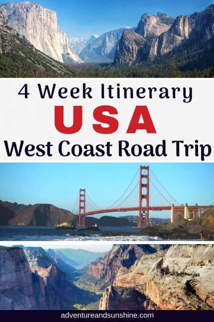 4 Week Usa West Coast Road Trip With Kids Adventure And