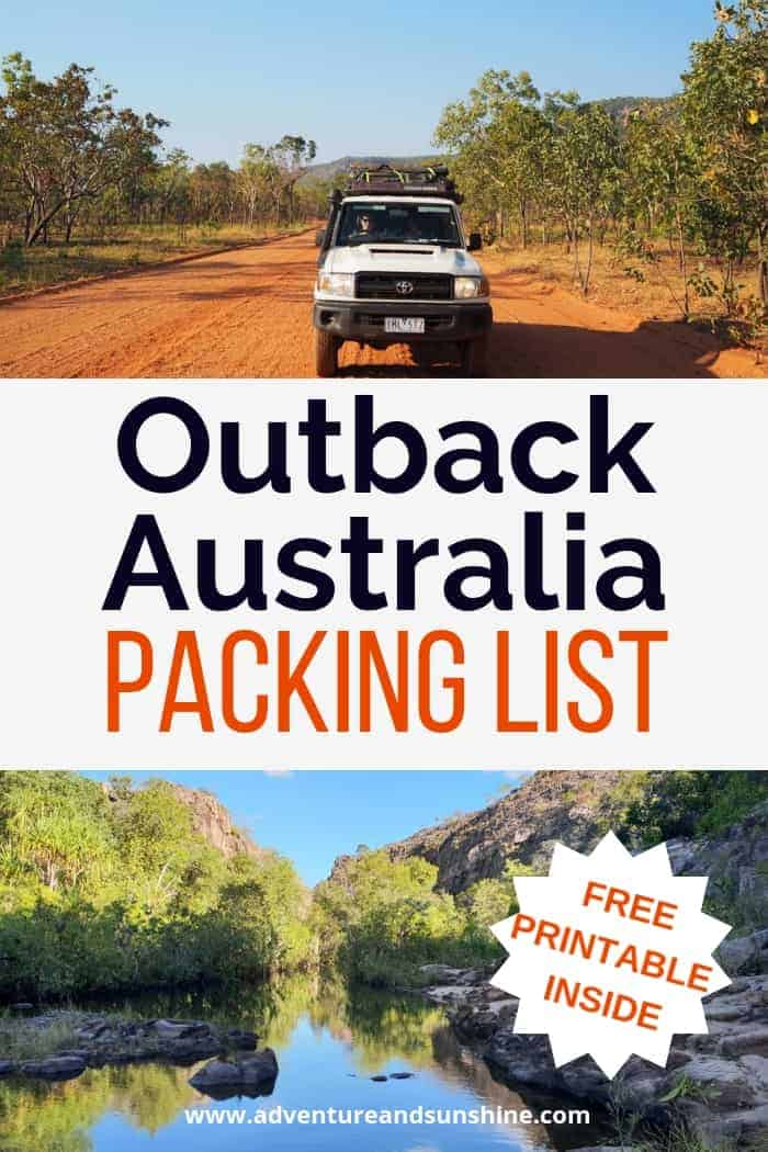 Outback Australia Packing List