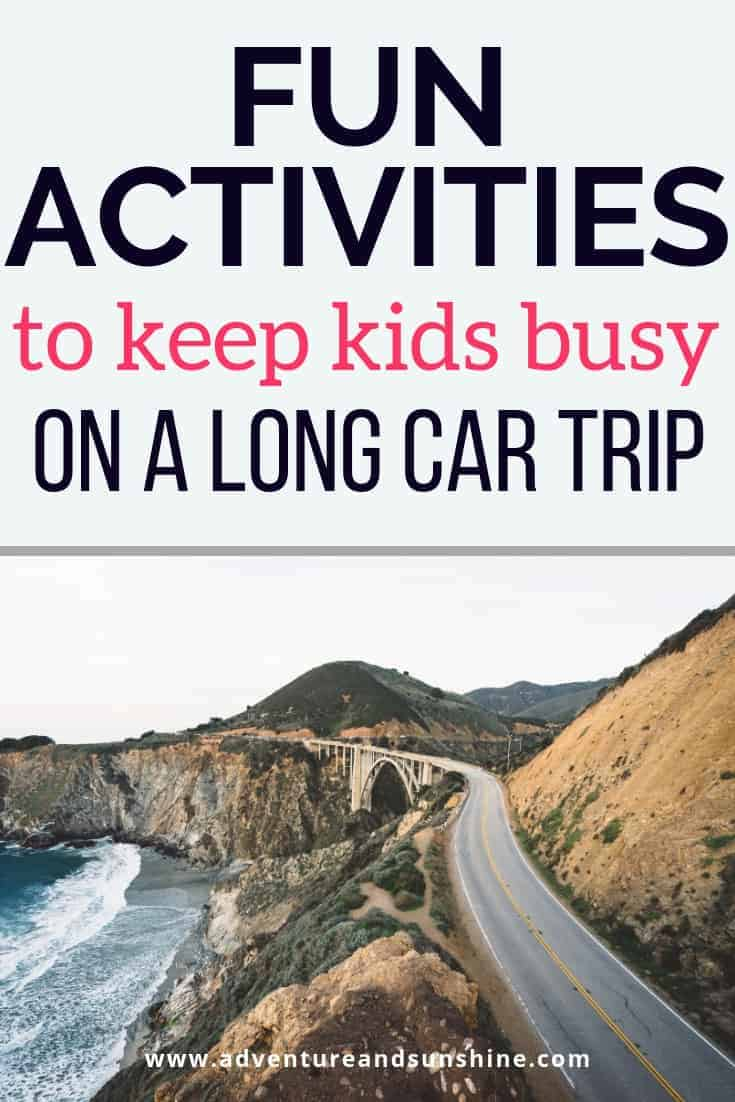 Road trip activities for kids on a long drive