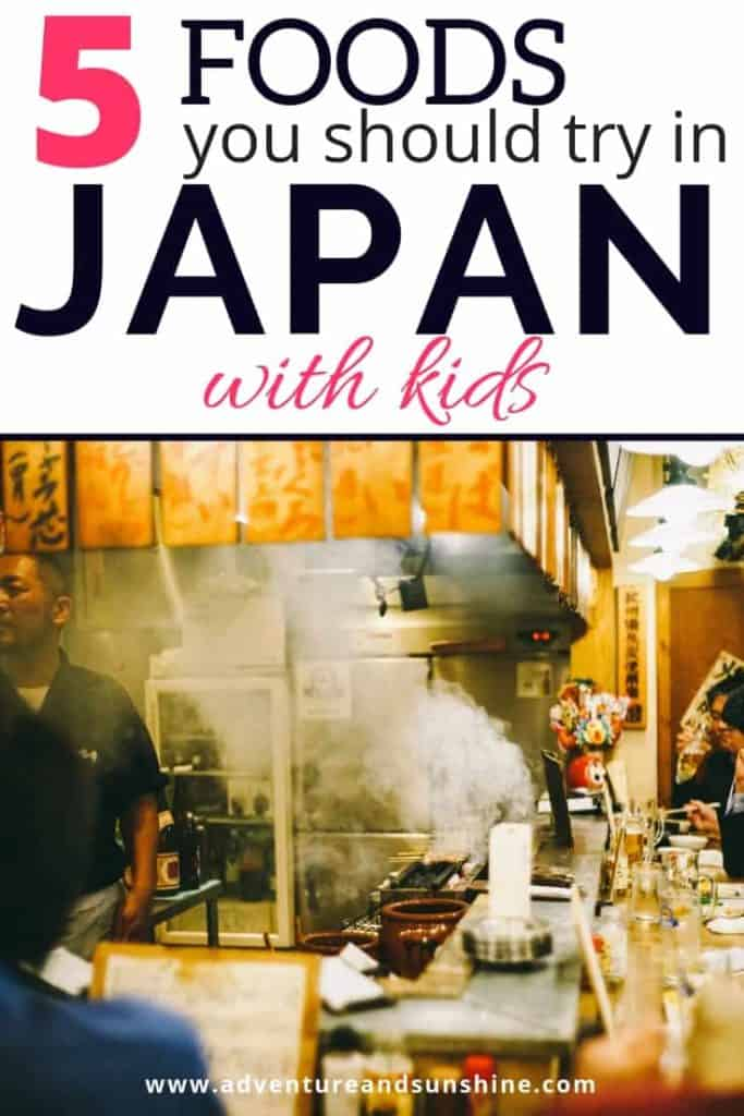 foods to try in Japan with kids