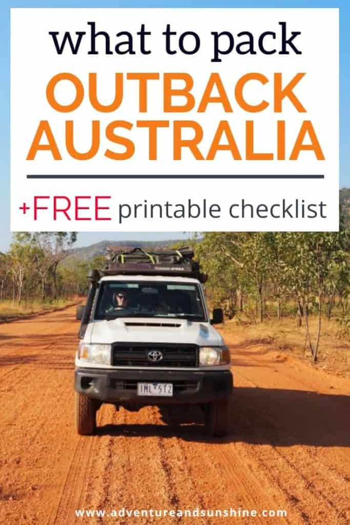 What to pack for an Outback Australia Road Trip