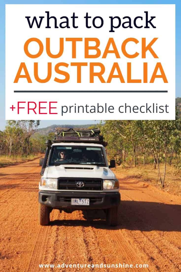 What to pack for Outback Australia Road Trip Packing Checklist