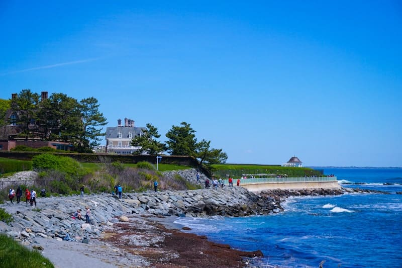 Cliff Walk and Newport Mansions on best road trips in new England