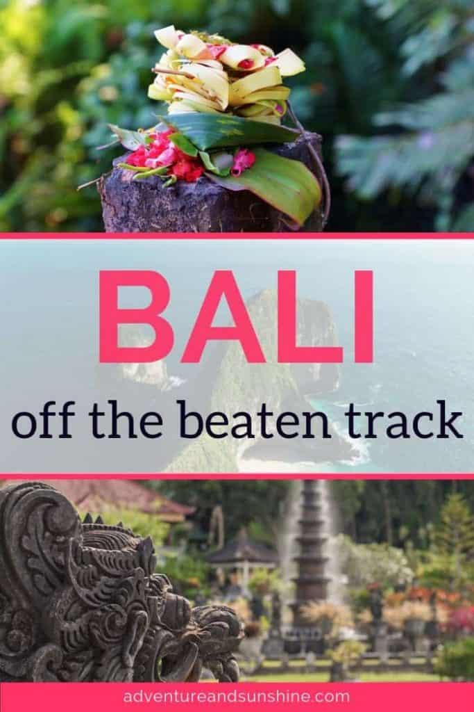 Temple and Offering with text overlay - Bali off the beaten track