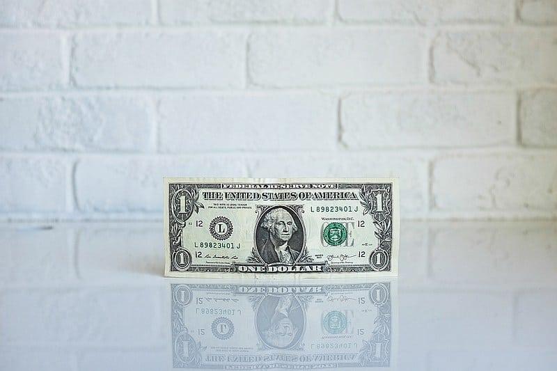 US Dollar bill - US road trip budget