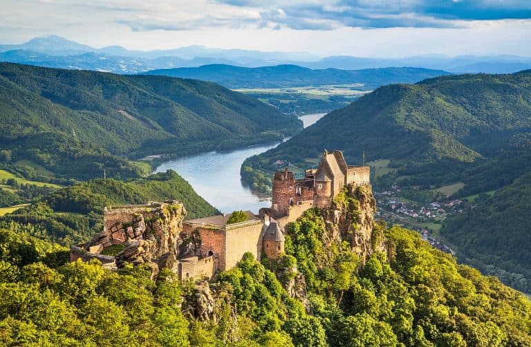 Danube River and Castle
