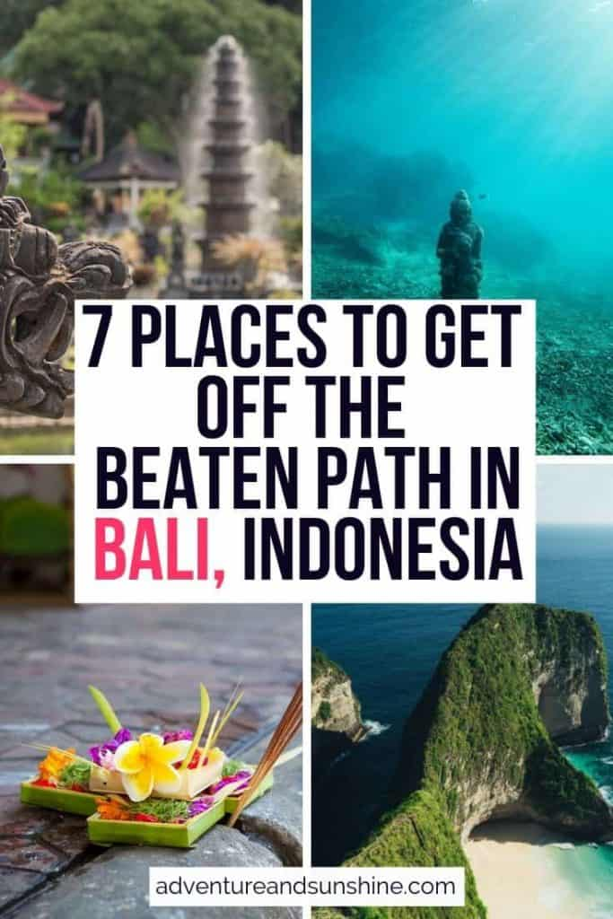 7 Places to get off the beaten path in Bali, Indonesia