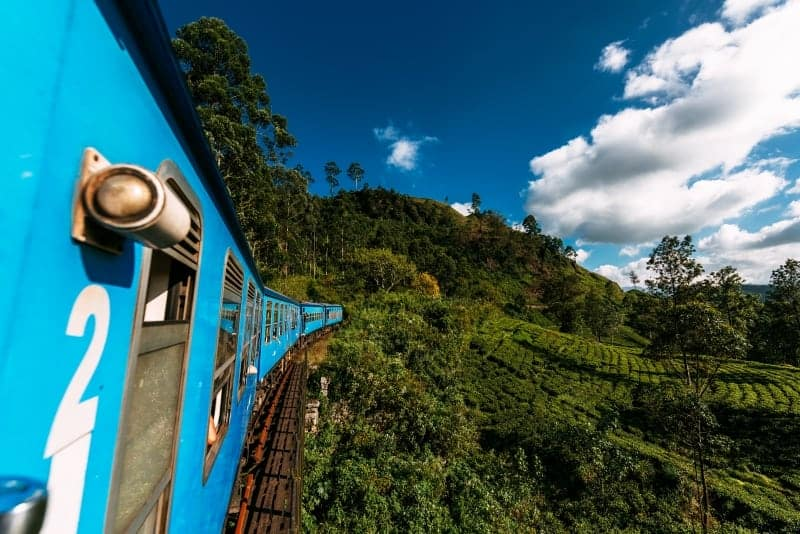View from Ella to Kandy Train