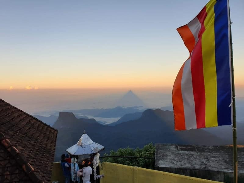 View from Summit of Adams Peak Sri Lanka