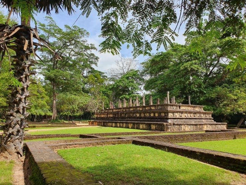 Ruins in the ancient city of Polonnaruwa Sri Lanka