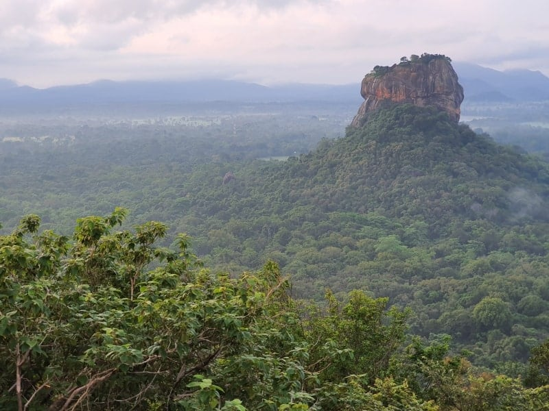 View across to Sigiriya Rock in Sri Lanka