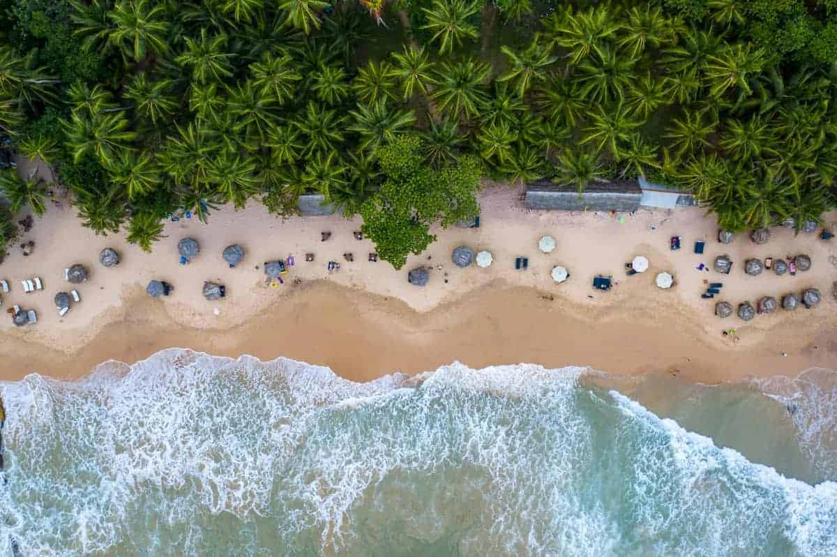 Sri Lanka Travel Blog - Aerial Beach View