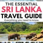 Three images of sri lanka with text overlay - The Essential Sri Lanka Travel Guide