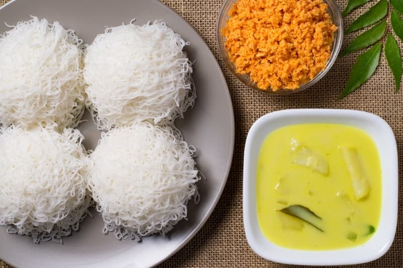 Sri Lankan Food - Egg Hoppers, Coconut Sambal and Curry