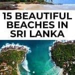 images of Sri Lankan beaches with text overlay 15 beautiful beaches in Sri Lanka