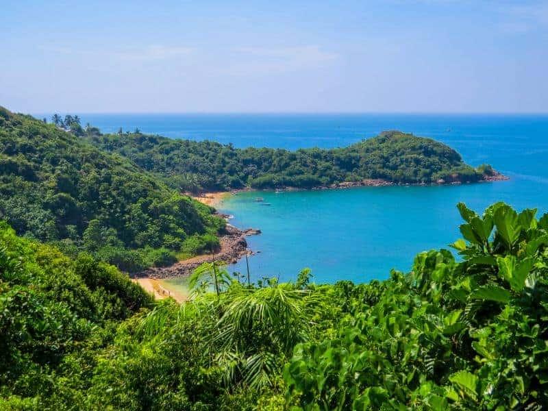 View of Jungle beach - best beaches near galle sri lanka