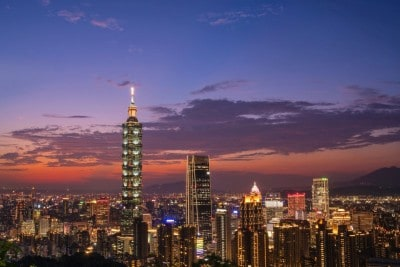 Night Taipei skyline - Taipei 101 - best things to do in Taipei with kids