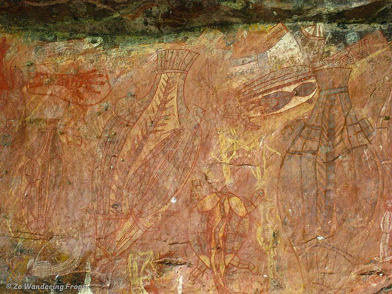 Indigenous rock art at Ubirr, Kakadu National Park