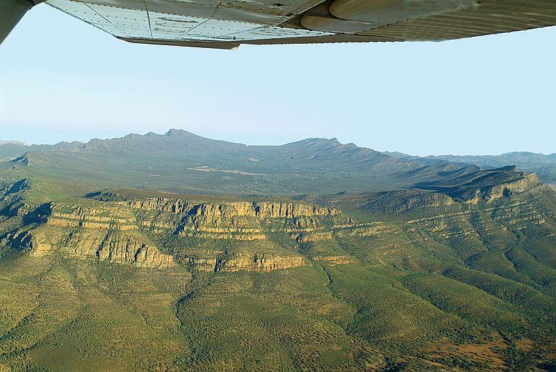 Natural landmark Wilpena Pound and Flinders Range South Australia