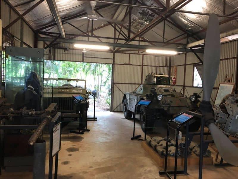 Inside the Darwin Military Museum.