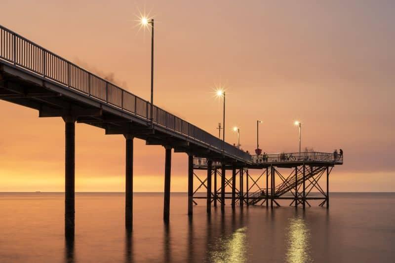 Nightcliff Jetty at sunset in Darwin, Australia.