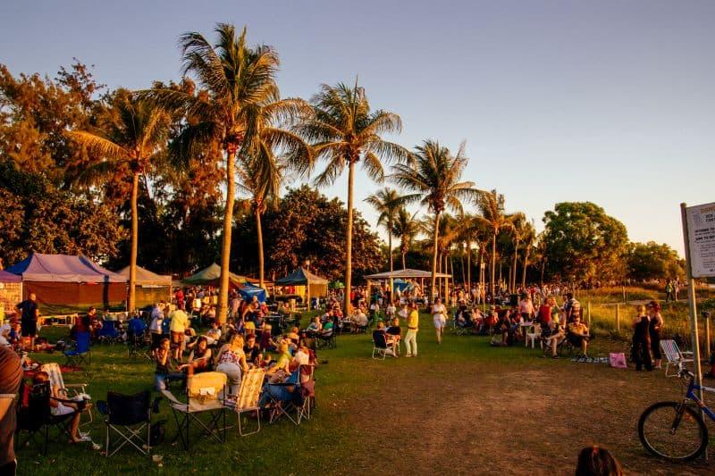 Mindil Beach at sunset in Darwin, Northern Territory, Australia.